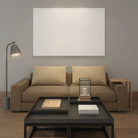 Previousfree board wall poster mockup. Mock Up Blank Poster On The Grey Wall Of Living Room Stock Illustration - Illustration of ...