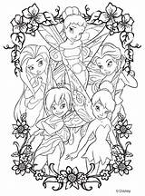 Coloring Crayola Disney Fairies sketch template