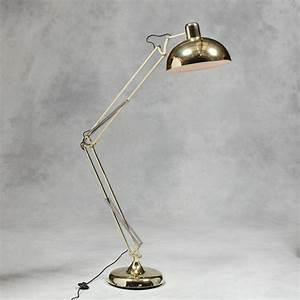 Retro copper floor lamp angle vintage large standing for Big copper floor lamp