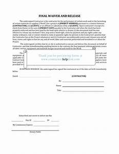 contractors help desk forms With final lien waiver template