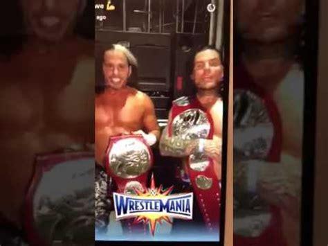 wrestlemania 33 broken matt hardy snapchat promo after