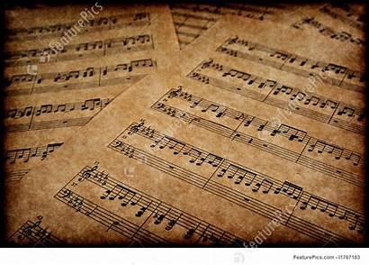 Notes Musical Parchment Instruments Paper Featurepics Brown