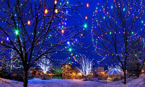 lights of christmas washington state downtown leavenworth washington during the lighting ceremonies description from