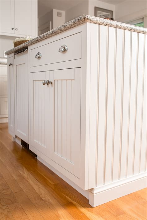 beadboard kitchen island kitchen remodel in bedford ny beachy cabinet design