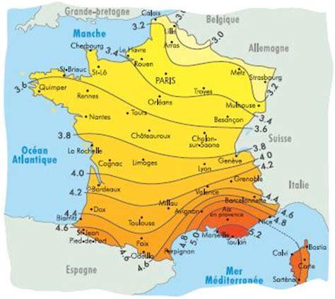 Carte Ensoleillement by Le Dopage Des Cellules Photovoltaiques