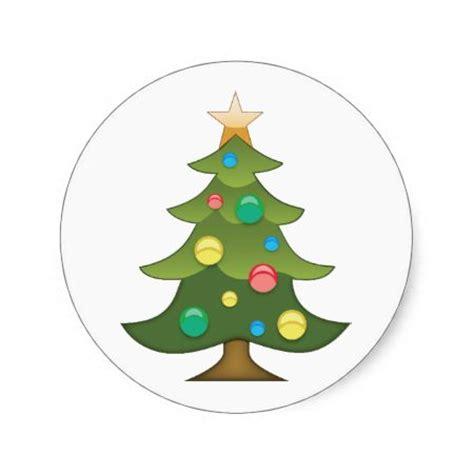 christmas tree emoji round stickers emoji pinterest trees christmas trees and stickers