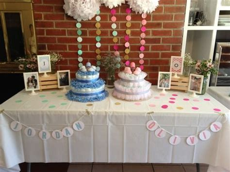 Diy Decoration Idea For A Joint Baby Shower Or A Baby