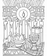 Coloring Pages Kwanzaa Amish Crayola Printable Saba Sheets Getcolorings Adult Colors Flag Getdrawings Activities sketch template