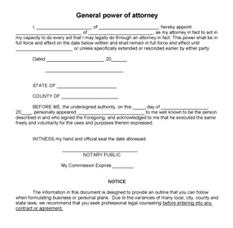 Free Power Of Attorney Template by Printable Sle Power Of Attorney Form Laywers Template