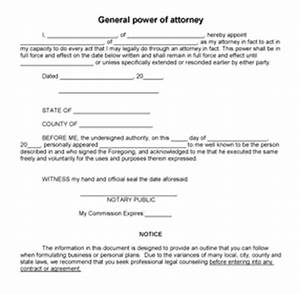 printable sample power of attorney form laywers template With free poa template