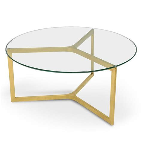 Table baroque style coffee table gold with glass top #mb45. CCF2352-KS 85cm Glass Round Coffee Table - ...   Calibre ...
