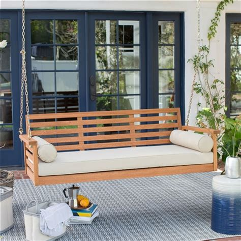 Porch Swing Bed Cushions by Seat Wood Porch Swing Outdoor Bed With Cushion And 2