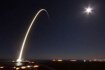 Launch Rocket Spacex Night Exposure Falcon Sun