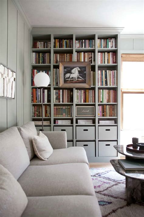 Book Shelves by Built In Ikea Billy Bookcase Hack A Beautiful Mess