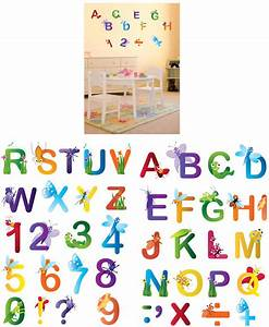 art applique letters and numbers wall sticker the frog With letters and numbers wall stickers