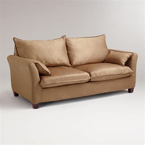 World Market Luxe Sofa Slipcover by Moccasin Microsuede Luxe Sofa Slipcover World Market