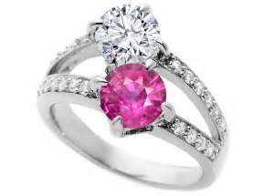 pink sapphire engagement ring engagement ring toi et moi pink sapphire engagement ring in 14k white gold es1138brps