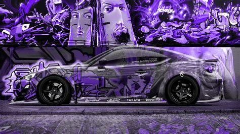 toyota gt jdm side crystal graffiti car  el tony