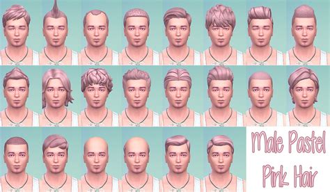 sims  hairs stars sugary pixels pastel pink hairstyle