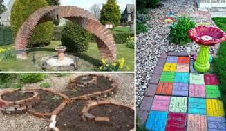DIY Garden Ideas with Bricks
