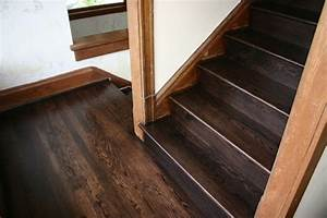 Replacment old Douglas Fir steps with naw Red Oak treads