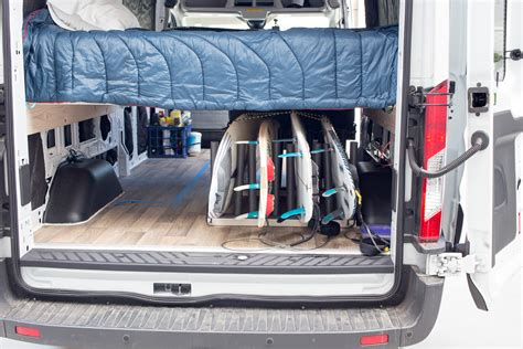 racking for vans build a surfboard rack for your morey s in transit
