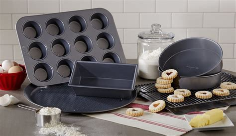 bakeware calphalon cookware cutlery kitchenware kitchen oven pan parts stick non pizza sets selectives cup individual