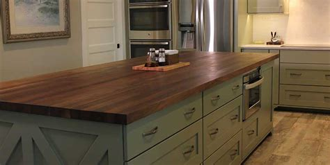 countertops for kitchen islands black walnut kitchen island mcclure block butcher block