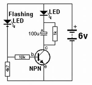 flasher circuits With led flash circuit
