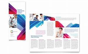 software solutions tri fold brochure template design With software product brochure template