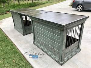 talk about desk goals this farm house style dog kennel is With desk dog crate