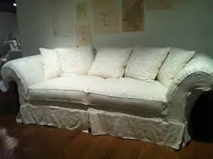 sofa shabby chic shabby chic sofa grace slipcovered