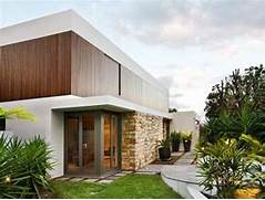 Stone House Design Ideas Minimalist Style Home With Wood Glass Stone Exterior Design