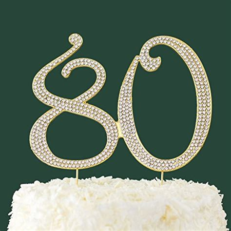 large rhinestone covered 80 80th compare price to number 80 cake topper tragerlaw biz