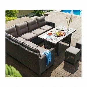 salon de jardin 8 places en resine tresse modele palma With lovely exemple de jardin de maison 2 salon de jardin tresse