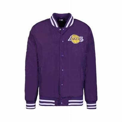 Lakers Jacket Bomber Era Nba Angeles Purple