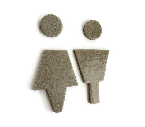 gray granite bathroom signs by hookswithattitude