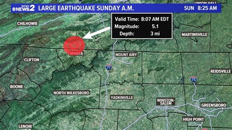 rare  earthquake rattles north carolina biggest