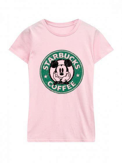 Kaos Tshirt Starbucks Coffee starbucks mickey mouse pink t shirt donefashion