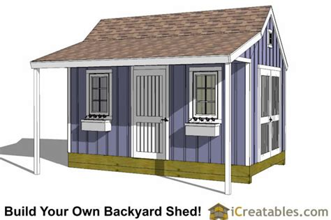 10 X 16 Colonial Shed Plans by 10x16 Colonial Shed With Porch Plans