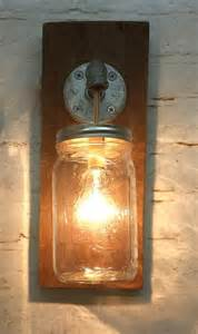 Rustic Bathroom Wall Lights by Jar Sconce Light Fixture Rustic Reclaimed By