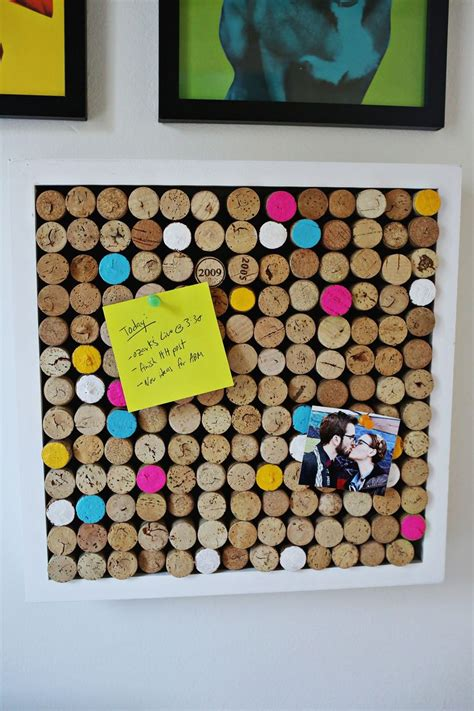 Home Decor For Walls by Try This Wine Cork Bulletin Board A Beautiful Mess