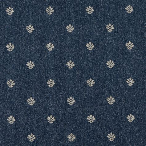 Country Upholstery Fabric by Blue And Beige Leaves Country Tweed Upholstery Fabric By