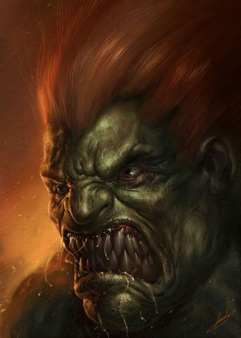 1000 Images About Blanka Street Fighter On Pinterest