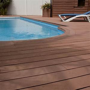 Terrasse Lame Composite : lame de terrasse composite brun 2800x140x22 ~ Edinachiropracticcenter.com Idées de Décoration