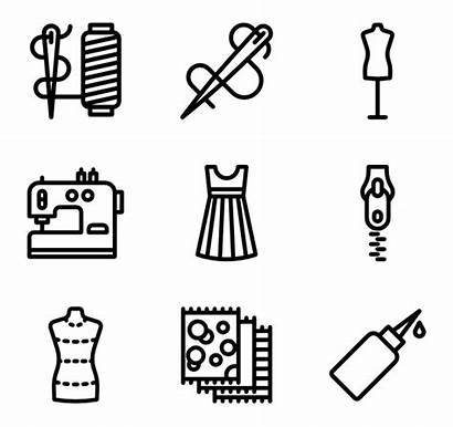Sewing Icon Icons Elements Sew Machine Vector