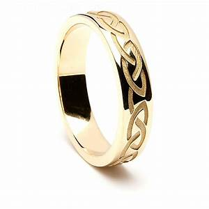 Celtic knot ring for Gaelic wedding ring