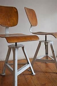 Drehstuhl Holz Höhenverstellbar : 1 of 2 stuhl werkstattstuhl vintage fabrikstuhl holz drehstuhl metall alt antik ebay ~ Frokenaadalensverden.com Haus und Dekorationen