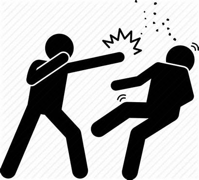 Criminal Crime Icon Assault Attack Punch Icons
