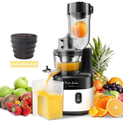 juicer slow press masticating technology cold machine extractor squeezer mechanism taylor sorbet 200w juice parts kale spinach jack appliancebee